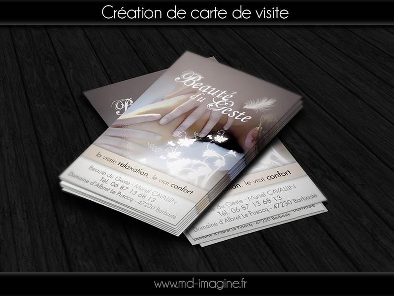 Création de carte de visite, graphisme, marmande, 47