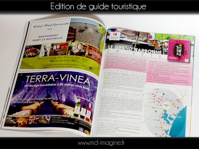 edition, maquette, mise en page, guide touristique, graphiste, Marmande 47
