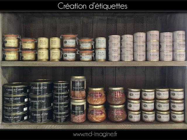 Création d'étiquette conserve, graphisme