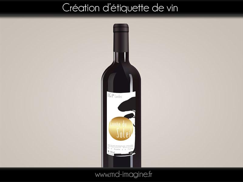 création graphique, etiquette, vin,