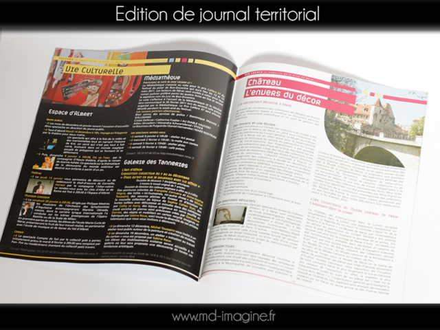 edition, mise en page de journal de ville